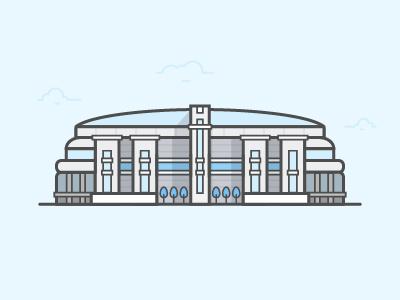 The Ed dome st. louis stadium football rams