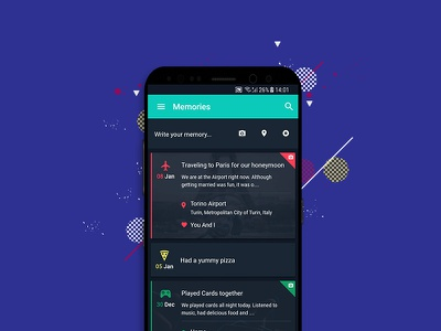 Jarme App color custom date time photos location memory jar journal app mobile diary