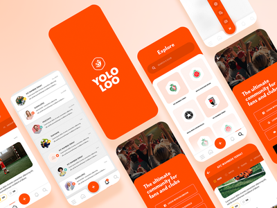 Yololoo ui ux orange soccer app mobile