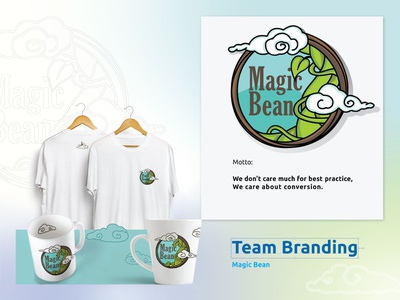 Team branding - Magic Bean adobe illustrator typography pictogram logo mockup logodesign magic bean squad vector design branding