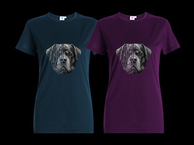 Rottweiler T shirt design wall art animal illustration high detail photoshop poster dog illustration print t shirt print on demand painting rottweiler