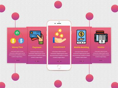 Banking onboarding mobile app screens