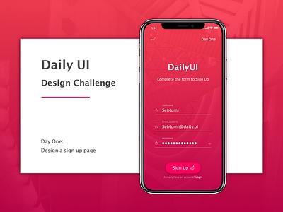 Daily UI Design Challenge Day 1 dayone 1 designchallenge dailyui