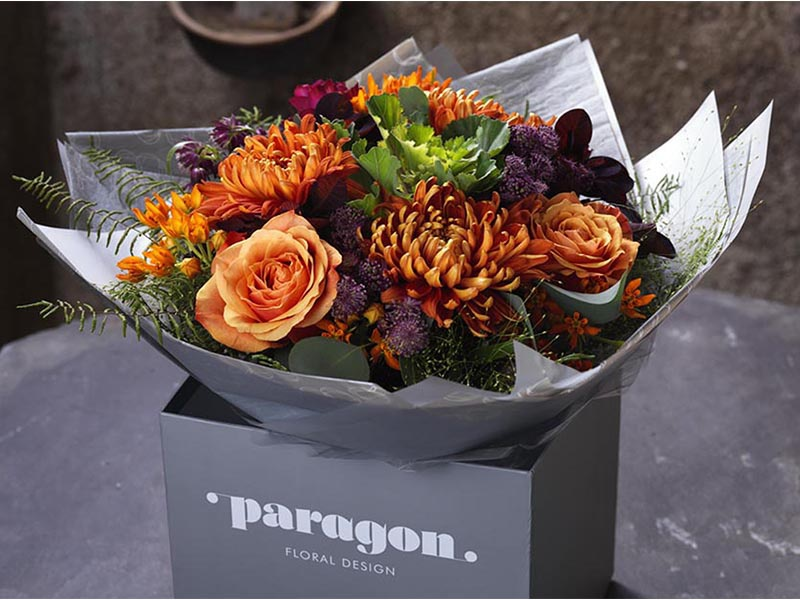 Paragon Floral artwork florist bright design experience user ux response web flowers
