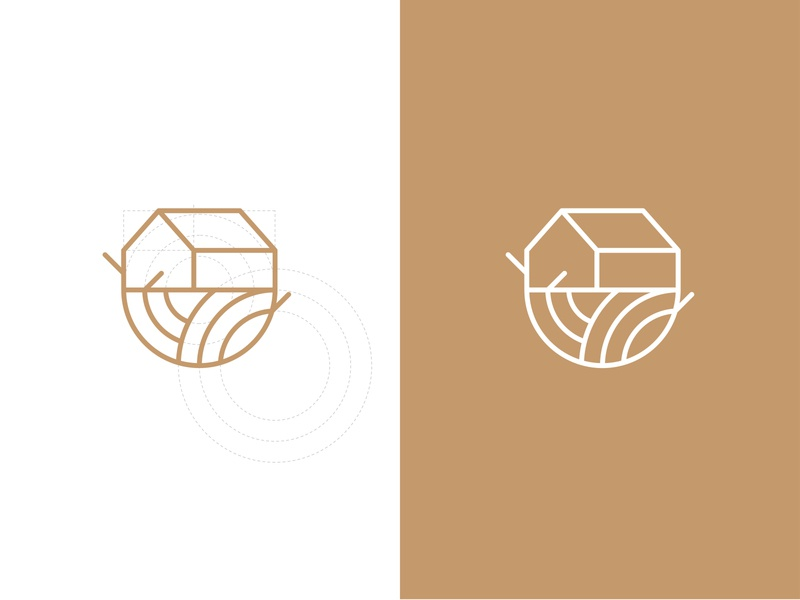 Nest Interior&Furniture Design Logo, Work in Progress, Draft 01 minimalism logotype interior nest furniture home branding and identity clean exploration branding concept work in progress draft construction symbol logo identity brand identity branding design branding brand
