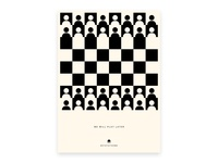 We will play later - Poster play corona virus corona stay at home poster design poster a day creative poster minimalism visual design symbol chess illustration concept exploration creative design creative poster brand identity branding brand
