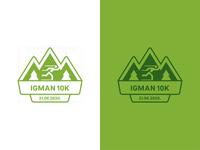 Logo/Medal Design for Igman 10k Race&Run branding concept design exploration concept minimal clean logo design runner mountain logodesign logotype brand design brand identity branding design branding brand medal logo race run