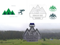 Igman 10k - Final Project Elaboration clean design visual design graphicdesign branding and identity branding concept runner mountain artwork medal construction logo exploration brand identity branding design branding project branding brand race 10k igman