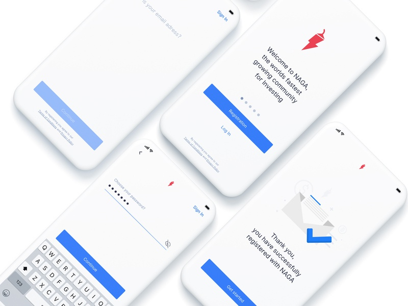 Social Trading App Sign Up Form/Onboarding design system exploration clean ui ux mobile ui app design ios app design ios social media finance fintech trading product mobile user interface work product design clean ui clean sign up form sign up