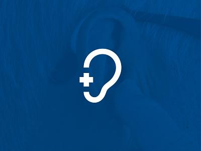 Plus Hearing Center Mark exploration minimal work branding design mark symbol logo design clean logo clean design plus construction hearing ear brand identity branding project branding concept branding logo symbol mark