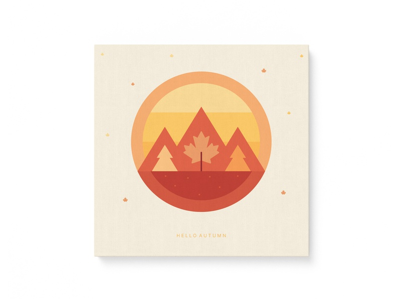 Hello Autumn! warmup dribbbleweeklywarmup canvas branding design clean shapes exploration colors nature coaster brand and identity illustration autumn colors branding concept brand identity brand design branding visual poster autumn