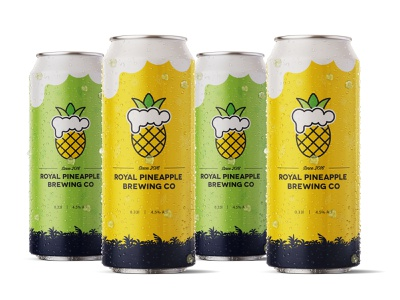Royal Pineapple Brewing Co Case Study sketches label design concept royal pineapple beer logo exploration art direction case study bootle can brand development brand identity brand design branding package design packaging label royal pineapple brewing co