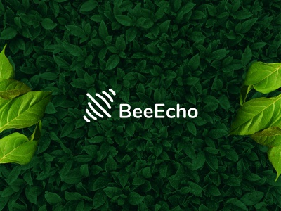 BeeEcho Logo Design think green exploration mark symbol monogram logotypes branding design green eco echo leaf nature brand identity branding ecology logo design logotype logo bee beeecho