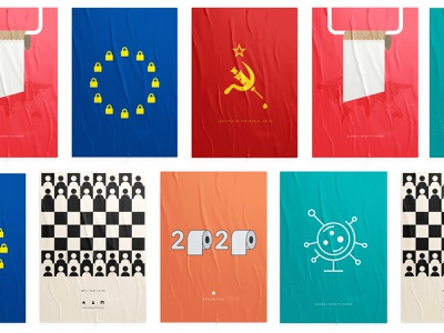 2020, A Year to Forget! dribbble printing colors poster art graphic design concepts print design coronavirus clean design minimalism artwork poster collection brand identity personal collection art director branding print 2020 design 2020 posters