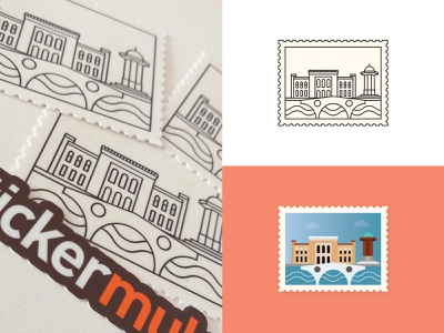 Stickers inspired by my favorite city sightseeing production exploration artdirection clean design stamp design stamp sticker design stickermule sticker mule city branding branding design branding hometown sarajevo my favorite city dribbbleweeklywarmup dribbble stickers sticker
