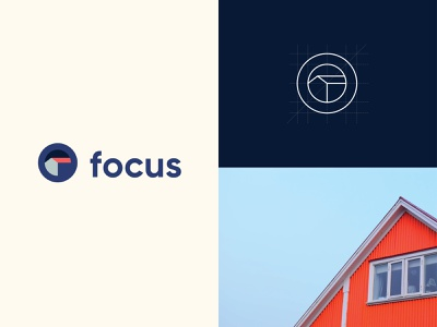 Focus Studio Logotype art direction logo design construction exploration elegant clean design branding design monogram symbol mark eye house brand identity branding design logotype logo studio architecture focus