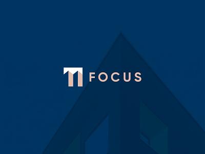 Focus Architecture Studio graphic design art direction brand development marks symbol brand identity exploration building lines minimal clean design clean brand design logotype architecture logo branding focus