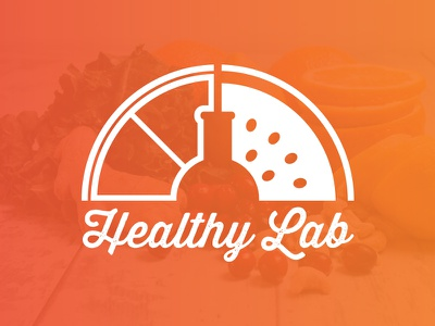 Healthy Lab Juice Smoothie Bar Logo orange fruit ilustration bar smoothie juice lab healthy logotype logo branding brand