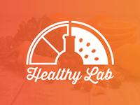 Healthy Lab Juice Smoothie Bar Logo