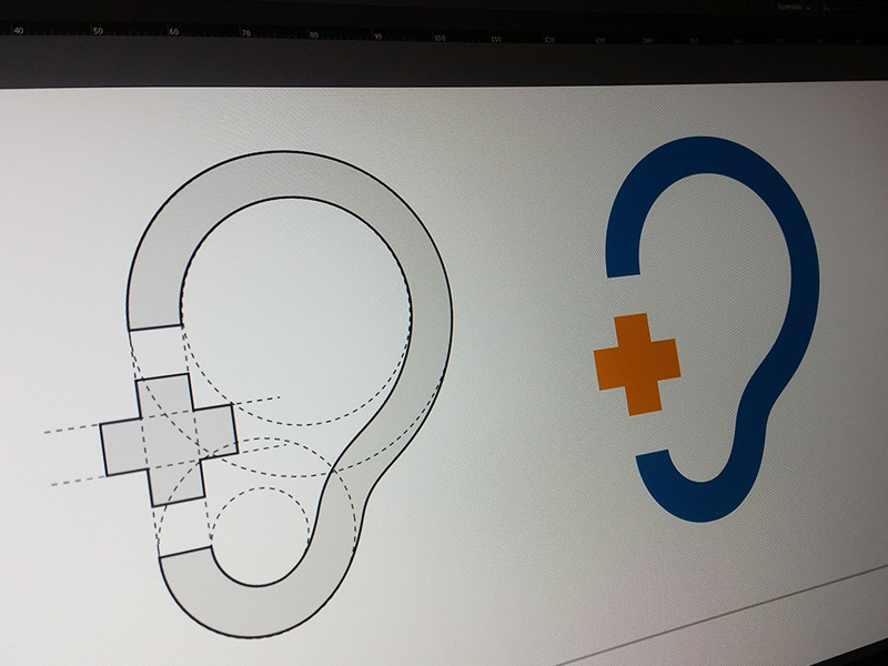 Plus Logo Design Process visual design icon branding brand geometry construction logotype logo