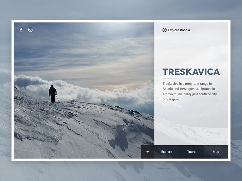 Explore Bosnia - Treskavica webdesign web minimalism mountain treskavica tourism bosnia explore