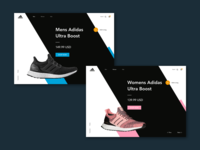 Adidas Ultra Boost UI Concept