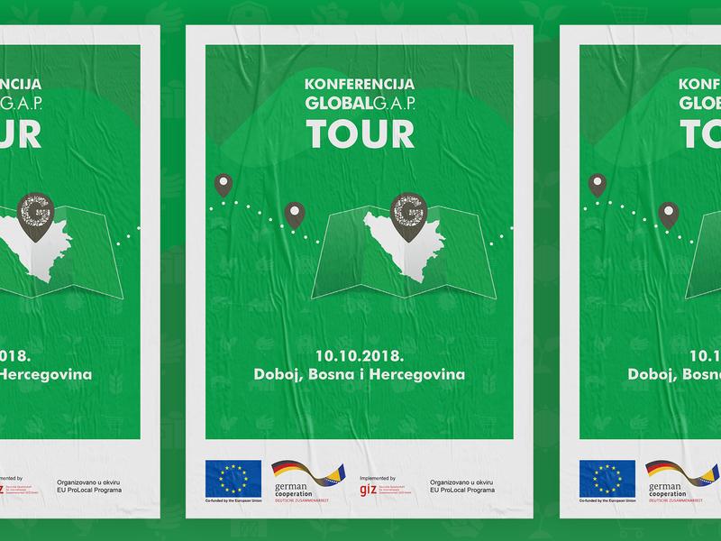 Global GAP Tour Bosnia&Herzegovina european union location ecology green work print bosniaandherzegovina giz branding design visual illustration agricultural global campaign poster design poster