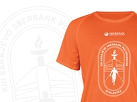 Official T shirt for Sarajevo Sberbank Halfmarathon 2019