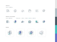 Icons/Illustrations for digital product&website