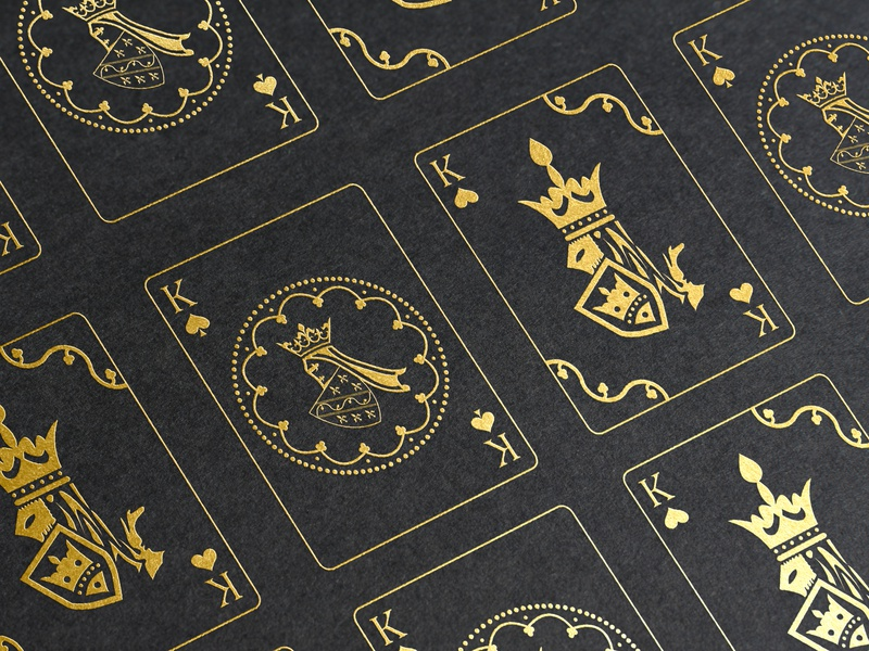 Bosnian Kingdom Playing Cards illustrator layout experiment kingdom cards gold stamp emblems symbols medieval retro style illustraion play ornamental exploration style retro dribbble dribbbleweeklywarmup playingcards