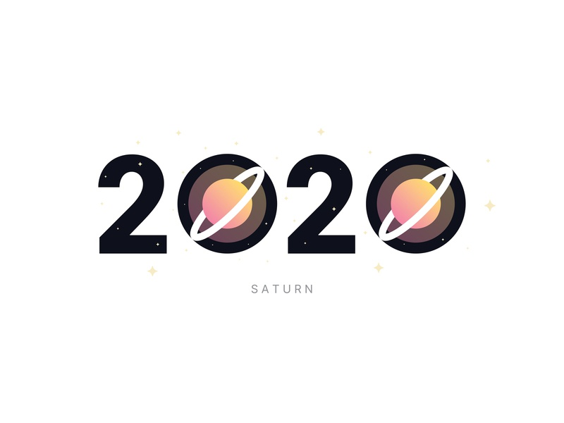 Saturn Mission 2020 art concept design art direction minimalistic exploration experiment imagination stars 2020 illustration symbol logo typography space weeklywarmup dribbble dribbbleweeklywarmup mission saturn