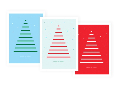 Happy Holidays to All Minimalists! holiday cards branding concept colors illustration artwork graphic design art direction design less is more cards christmas tree lines exploration minimalism minimalist dribbbleweeklywarmup weeklywarmup dribbble card holiday