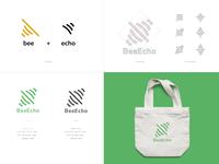BeeEcho Logo Design