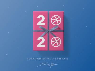 Happy Holidays to all Dribbblers signature art direction minimalist dribbblers branding visual design packaging design concept exploration illustration typo typogaphy happy dribbbleweeklywarmup weeklywarmup gift card gift holidays dribbble