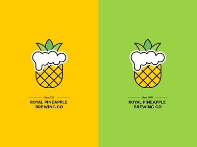 Royal Pineapple Brewing Co Label illustration packagedesign label packaging packaging art direction colors fresh labeldesign label logo pineapple exploration concept brand branding beer fruit drink dribbbleweeklywarmup dribbble