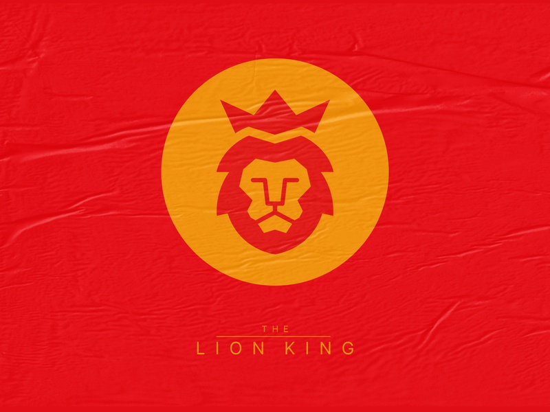 The Lion King Icon outline icon set colors visual design minimalism shapes art direction exploration brand design shape logo lion the lion king illustration icon minimalist design branding dribbbleweeklywarmup dribbble