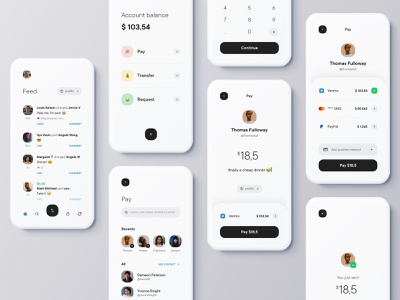 Transfer money app 💸 challenge share emoji payment social feed account balance request transfer pay money concept creative dribbble app venmo shot ui design