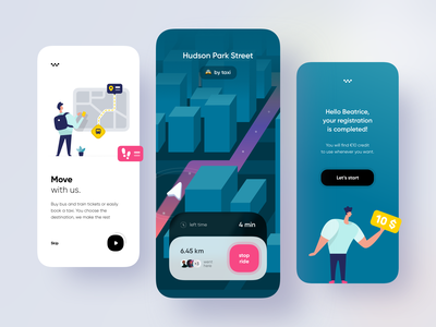 Multi-mobility app 🚕 : homepage palaces isometric direction move signup ride taxi vr map 3d onboarding home concept app illustration dribbble creative shot ui design