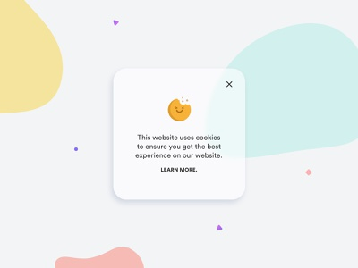 A funny cookie policy :) web modal cookies cookie illustration creative ui shot design