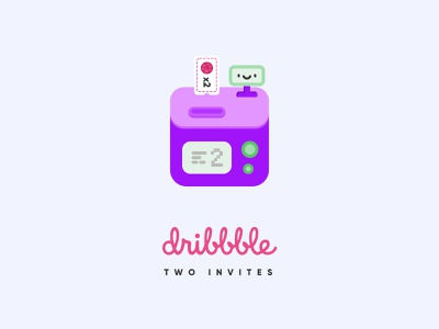 2 Dribbble invites! draft invitation ticket machine invites invite dribbble illustration creative shot ui design