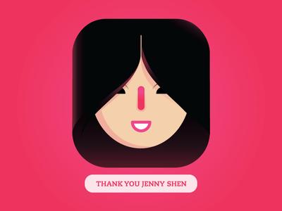 Thank You Jenny Shen invite thankyou