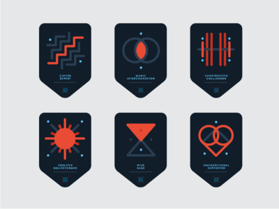 Concept Badge lines coaching badges badge