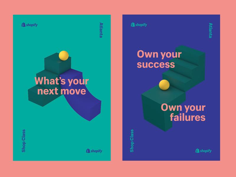 Shop Class Posters shapes geometric 3d art poster simple c4d 3d