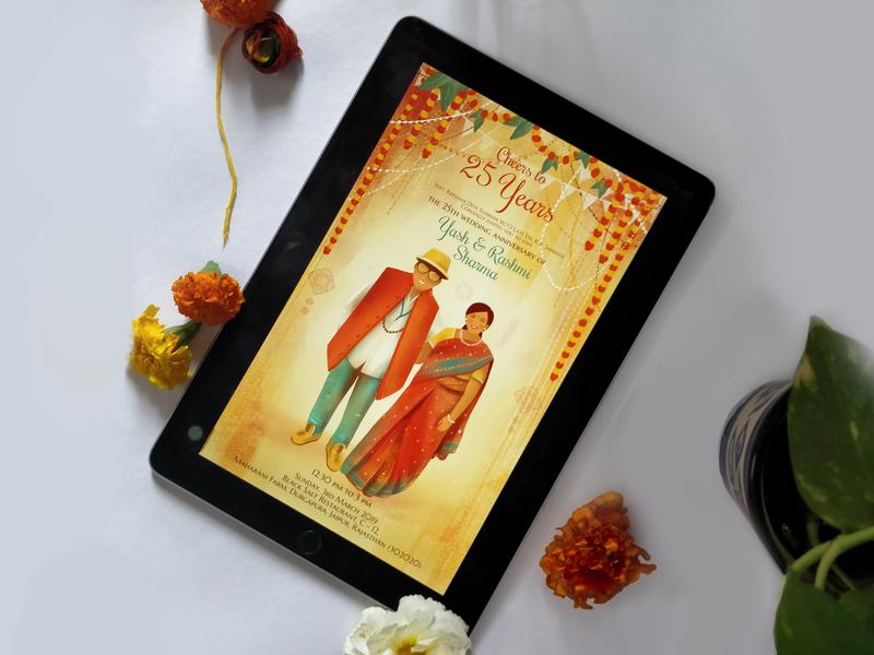 Invitation For 25th Wedding Anniversary By Shivangi Sah On