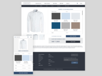 Men's Clothing Website - Redesign