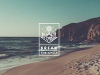 Logo design for 'Break the Cycle' - White