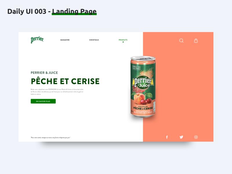 Daily UI 003 - Landing page landing page dailyui003 drink french website webdesign dailyui ux design ux ui design ui sketch
