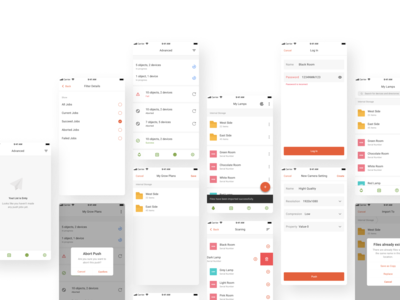 Lamp Manager (iOS & Android Application)