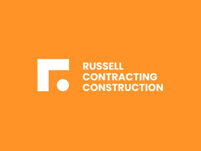 Daily Logo Challenge : Day 45 - Russell Contracting russell construction logodesign brand identity visual identity daily design logodesignchallenge logotype dailylogochallenge creative branding