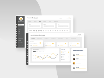 Zama Classroom Teacher dashboad web flat design ux ui minimal